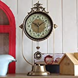 Y-Hui Der alte Kapitän Messing Base Clock Mute Pendeluhr Schminktisch TV-Schrank Wanduhr Tisch Wohnzimmer Tischuhr Home 壀 Clock ,6025