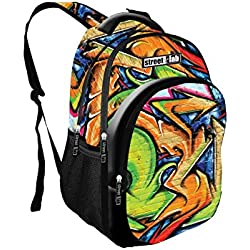 Anadel AN752665 Street Lab Mochila escolar, 46 cm, Multicolor