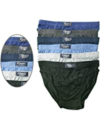 Unbranded Pack of 3 6 9 & 12 Mens Classic Slips Briefs Pants Hipster Underwear Cotton UK S M L XL 2XL