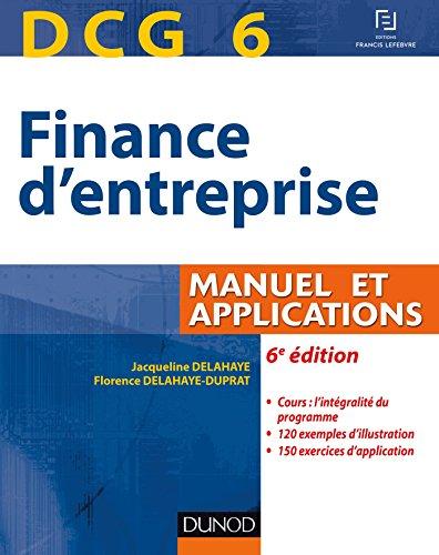 DCG 6 - Finance d'entreprise - 6e é...