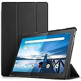 IVSO Coque Etui Housse pour Lenovo Tab M10, Slim Smart Cover Housse de Protection avec Support Fonction pour Lenovo Tab M10 10 Pouces 2018 Tablette, Noir