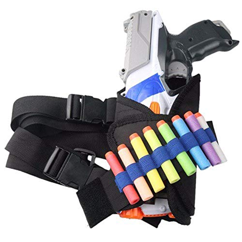 CUSHY 1 Pieza Bala ShootingBullet Objetivo Bolsillos de munición Soporte de la Pierna Bolsa de Nerf Bala Juego de Deportes al Aire Libre Accesorios
