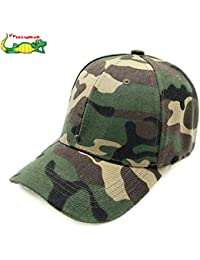 Elligator Unisex Polyester Army Cap (Free Size, Green)