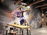 Yosot Anpassen Von 3D Fototapete Nostalgie Basketball Schlafzimmer Tapete Für Wände 3D Tapete-250Cmx175Cm