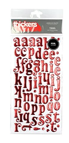 American Crafts Lametta/chry-thickers Folie Aufkleber, Acryl, mehrfarbig (Thickers Letters)