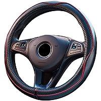 Cubierta para volante universal de cuero 15pulg./38cm, transpirable, antideslizante, protección, buen agarre
