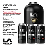 LA Muscle Super Size Amazon Special Deal: 1 x LA Whey Gold Vanilla 2.2kg Protein RR £80, 1 x Norateen Heavyweight II RRP £70 and voted best muscle builder by Men's Health, 2x Bonus Norateen Heavyweight II Trial Size £40, All for limited Amazon price of just £94.99 with FREE delivery - Save £105 today, HURRY ORDER NOW