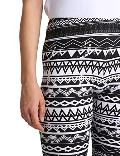 Berydale Damen Legging Bd313 Mehrfarbig (Schwarz/Weiß/Grau)