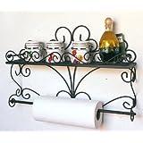 Estante para pared con especias 53cm kitchen estante hecho de metal para el baño estante de especias