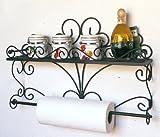 DanDiBo Wandregal Especias Wandkonsole 53 cm Küchenregal aus Metall Badregal