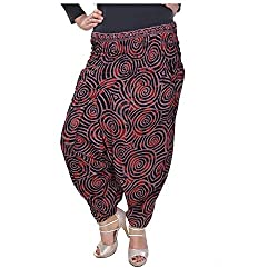 Soundarya Womens Regular Fit Harem Pants (AP8, Brown)