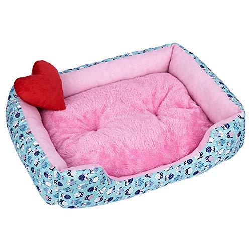 LOSVIP Winter Haustier Hundekatzen Plus samtverdickendes Haustiernest weiche warme Zwinger Hundematten Decke(Mehrfarbig-4,55x45x13cm)