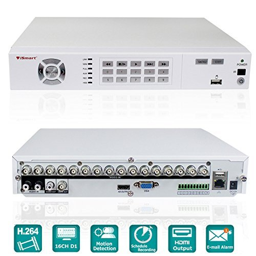 iSmart 16 Channel Full D1 DVR Home Security System Smart Phone and PC Remote Access View P2P D5616FH