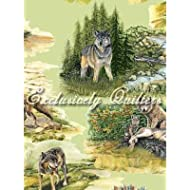 Fat Quarter Wolf Song Cotton, tessuto di supporto per Quilting e Exclusively Quilters
