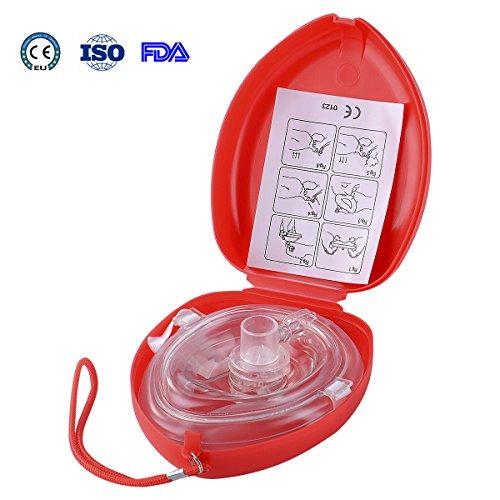Aurelius Tasche CPR Maske für Erste-Hilfe-Wiederbelebung Gesichtsmaske, Single Use mit CE & ISO genehmigt (Red Box) (Die Visualisierung Macht Der)