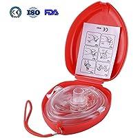 Aurelius Tasche CPR Maske für Erste-Hilfe-Wiederbelebung Gesichtsmaske, Single Use mit CE & ISO genehmigt (Red... preisvergleich bei billige-tabletten.eu