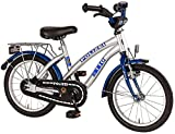 Bachtenkirch Kinder Fahrrad POLIZEI Oval-S, silber/blau, 18 Zoll, 1300474-PZ-77