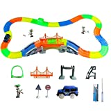 Insense Eletric Car Track LED Car Race Track Racing Cars Magic Construction Toy For Boys or Girls Construction
