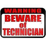 """graphique et plus """"avertissement Attention au technicien"""" 22.9x 15.2cm plaque en métal Tableau"""