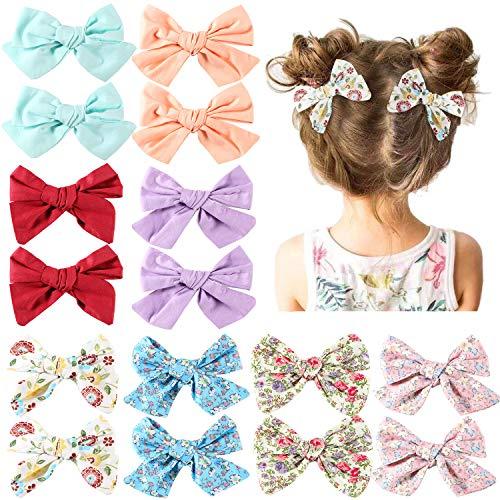 Tacobear 16Stk. Haarschleifen Mädchen Bowknot Haarspangen Haarclips Haarklammern Haarschmuck für Baby Mädchen