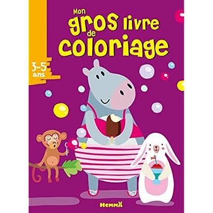 Mon gros livre de coloriage (Hippopotame)
