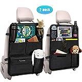 Tsumbay Tsumbay Auto Rückenlehnenschutz 2 Stück Wasserdicht Auto Rücksitz Organizer für Kinder, Durchsichtigem Große Taschen und iPad-Tablet-Fach, Multifunktionale Auto Aufbewahrungstasche