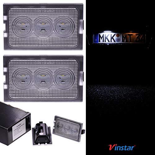 VINSTAR LED Kennzeichenbeleuchtung E-geprüft CAN-Bus 18 LEDs je Modul 6000 Kelvin für Land Rover (alle passenden Modelle in der Produktbeschreibung!)