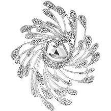 Las mujeres Rhinestone broche vestido de accesorios de aleación de Phoenix, joya para fiestas