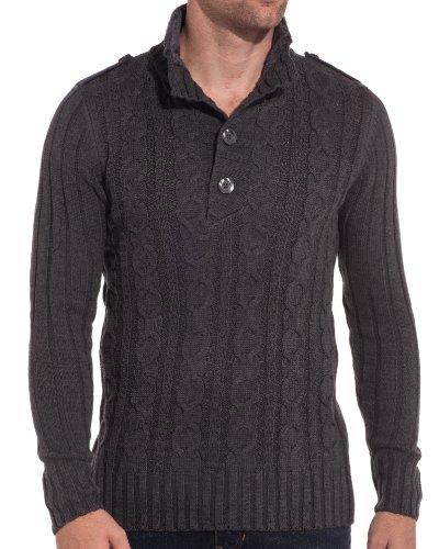 BLZ jeans - Pull gris design et tendance Gris