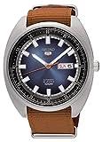 Seiko Herren Analog Automatik Uhr mit Stoff Armband SRPB21K1