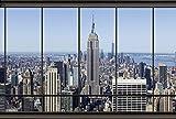 Papier Peint poster panoramique PENTHOUSE NEW YORK 4 x 2,70 m | Déco et photo murale XXL Qualité HD Scenolia