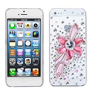 Mybat Iphone5Hpcbkxtldm3D6... Premium Crystal 3D Diamante Case For Iphone 5 - 1 Pack - Retail Packaging - Pink...