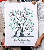 Wedding Tree Fingerabdruck Baum 1 auf Leinwand für die Hochzeit (20 x 30 cm)