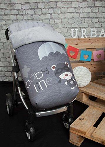 Babyline Fallschirmjäger–Fußsack-Stuhl, grau