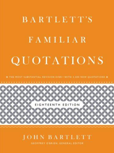 Bartlett's Familiar Quotations (English Edition)
