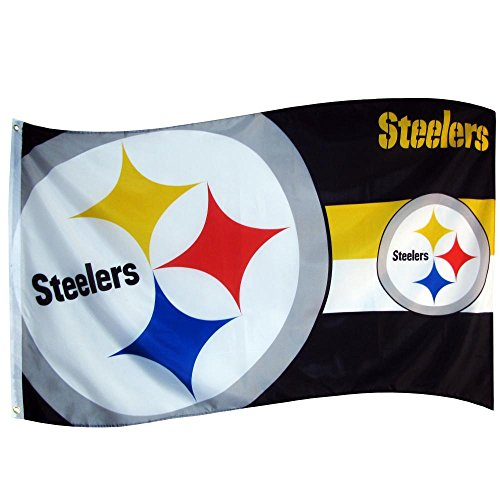 NFL Pittsburgh Steelers Große Flagge 5ft x 3ft Fußball American Flagge