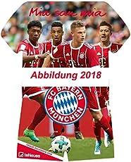 FC Bayern Trikotkalender 2019 - Bayern Kalender, Fankalender Fußball, Fußball Kalender, FC Bayern München Kalender - 34 x 42 cm
