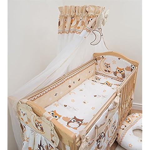 10pezzi Nursery Set di biancheria per lettino, con All-round 360cm Paraurti (120x 60cm)–Pattern 7 - 360 Pezzi Set