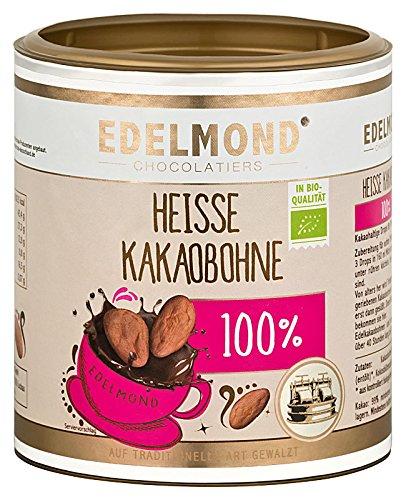 Heiße Bio Kakaobohne für Trinkschokolade ohne Zucker von Edelmond. Fair Trade. Kein Pulver! Zum Zartbitter- Herrenschokolade Heißgetränk selbst machen. 250 GR