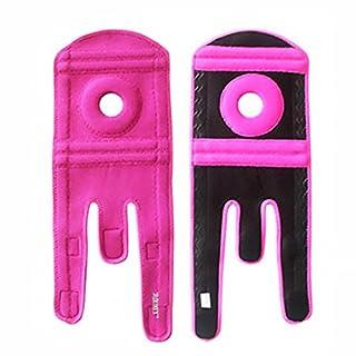 Nicedeal Kniebandage für Arthritis, Meniskusreißen, ACL, Laufen, Basketball, Sport, Sportliche MCL Läufer, Verstellbare offene Patella-Stabilisator, Linderung von Schmerzen linker Fuß (rosa)