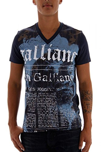 john-galliano-t-shirt-da-uomo-dunkelblau-xl