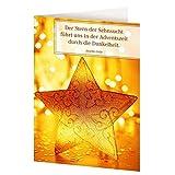 Weihnachtskarten »Ein gesegnetes Christfest«: 4er-Set Klappkarten