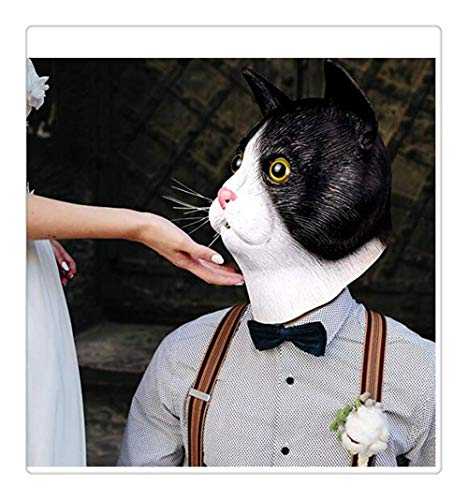 Cat Kitten Mask - Halloween Latex Tierkopf Maske W?rmer Vollmaske Halloween Kost¨¹m ()