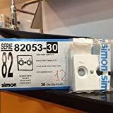 Simon - 82053-30 tapa toma r-tv s-82 blanco Ref. 6558230260