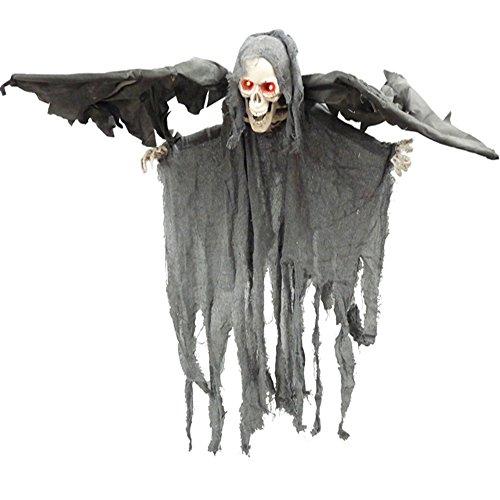 Horror Fledermaus Geist mit LED Augen, 100cm Halloween