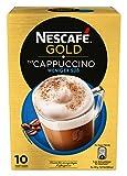 Nescafé Gold Typ Cappuccino Weniger Süß Getränkepulver (aus Instant-Bohnenkaffee und Kaffeeweißer, lösliche Kaffee-Sticks) 1er Pack (à 10 x 12,5g)