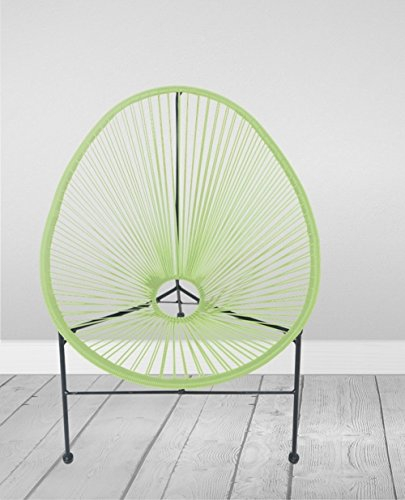 Loungesessel Gio 71x79x86cm Kunststoff Metallstuhl Retro Stuhl Gartenstuhl, Farbe:hellgrün