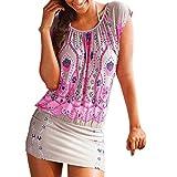 Mujer Vestidos | Mujer Vestir Ropa | Mujer Sexy Falda Chaleco Camisetas | Blusa De Fiesta Mujer | Tops Mujer Verano | Ropa De Mujer | Camisas Largas Mujer | (XL, B)