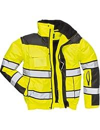 4in1 Warnschutzjacke Regenjacke Winterjacke Arbeitsjacke gleb oder orange