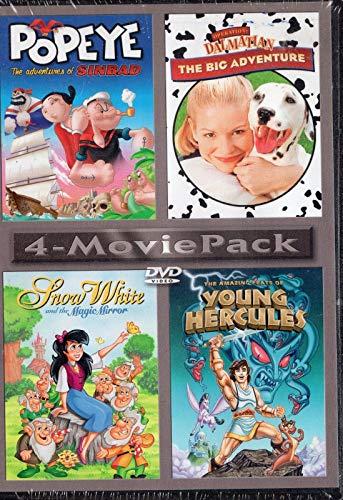 Popeye The Adventures of sinbad , Young Hercules , Operation Dalmatian , Snow White Magic Mirror - DVD Set